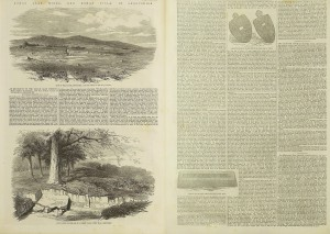 Illustrated London News (oct 4 1856) - an excursion to the roman lead mines at shelve, etc. (two page montage)