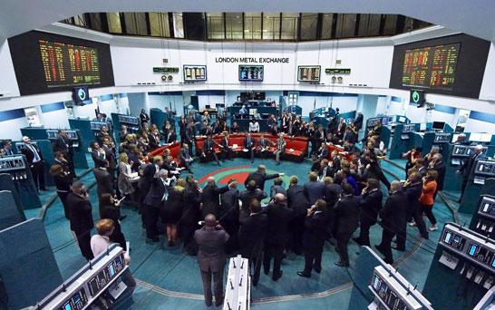 RING TRADING:  London Metal Exchange  [photo credit: Daily Telegraph 2013]