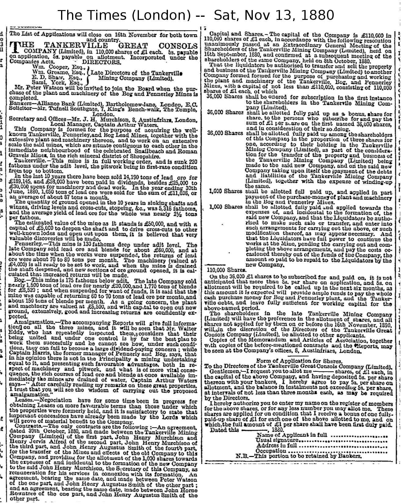 £110,000 TANKERVILLE SHARE ISSUE    [click for full size]