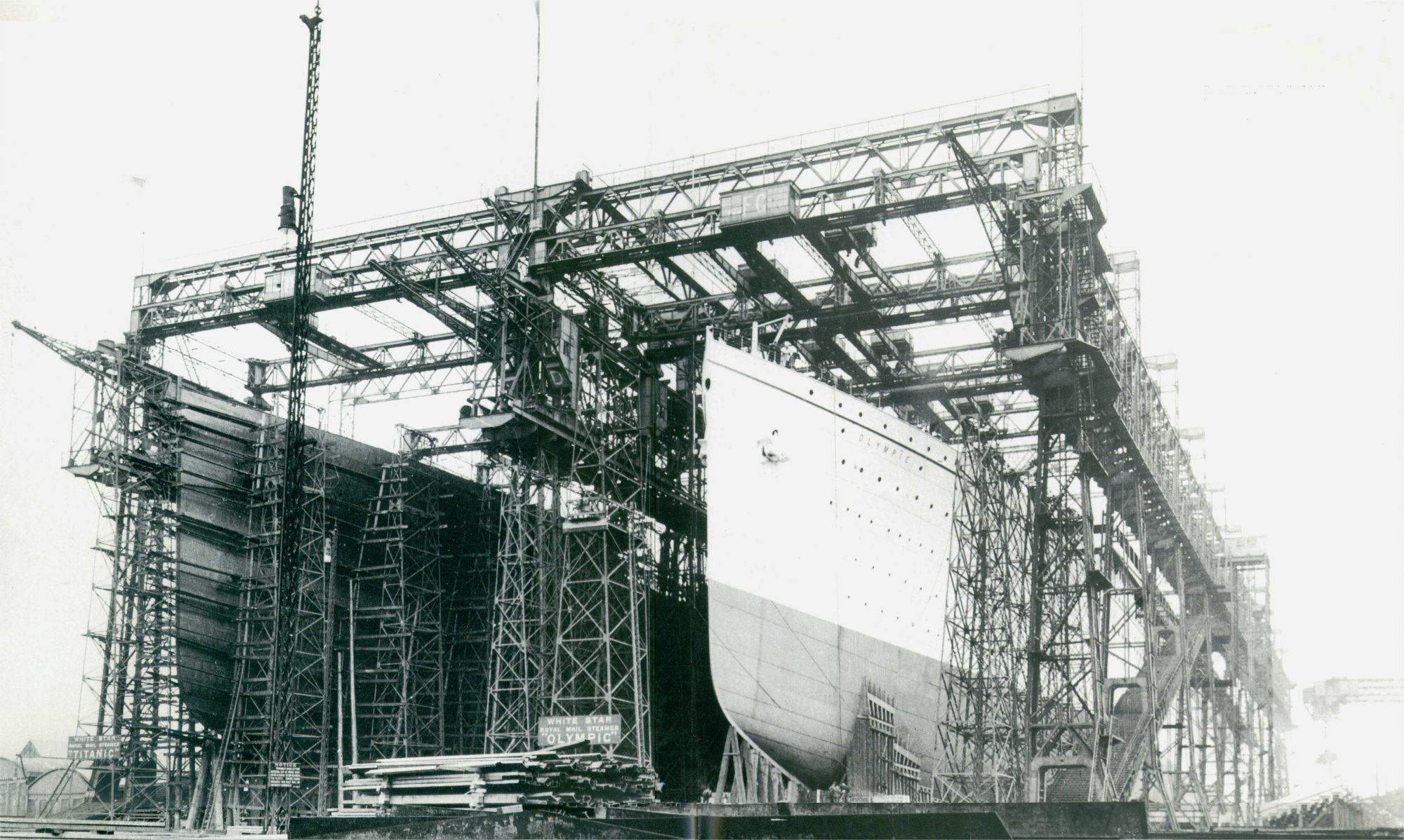 A FRENCHMAN'S PERSPECTIVE:  These photos are clearly fake and were intended to make us believe they built two ships. I think, that only one « Titanic » were built and it didn't sink, but it was vanished and reappeared with an another name : the « Olympic »
