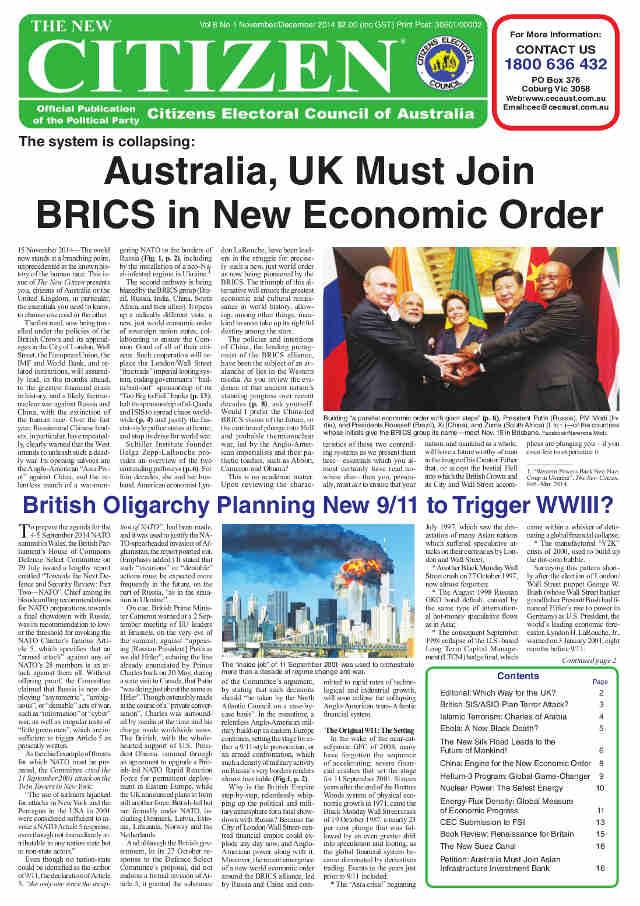 BRICS:  a new, just economic world order